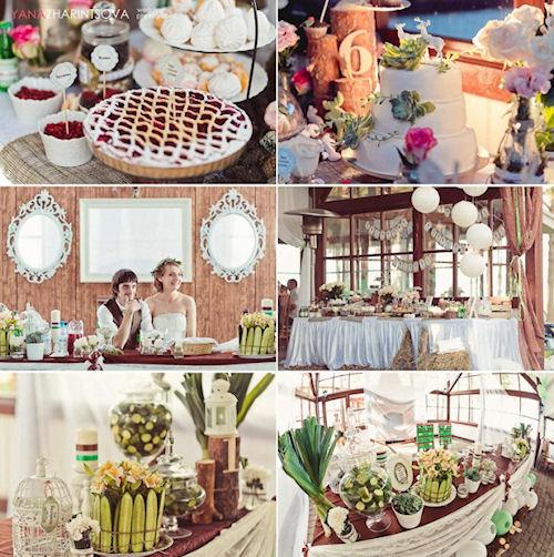 Необыкновенная свадьба в стиле рустик