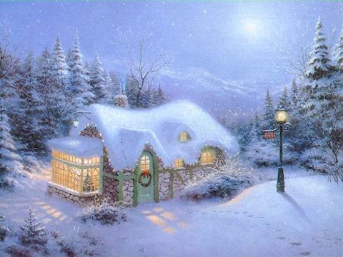 Снеговик в морозный день